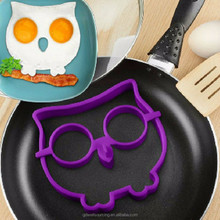 Owl Rabbit Shapes Silicone Fried Egg Mold Pancake Rings Cooking Tools Egg Omelette Mould
