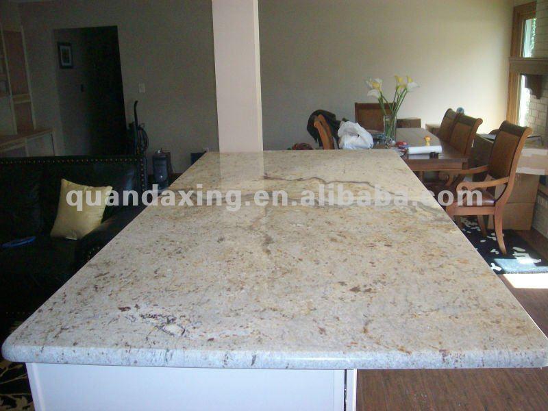 Blanco granito encimera de cocina tapas de la isla - Encimera granito blanco ...