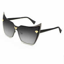 Gold Black Big Cat Eye Sunglasses Women Square Glasses for Female Eyewear Womens Gafas cat Party sunglasses