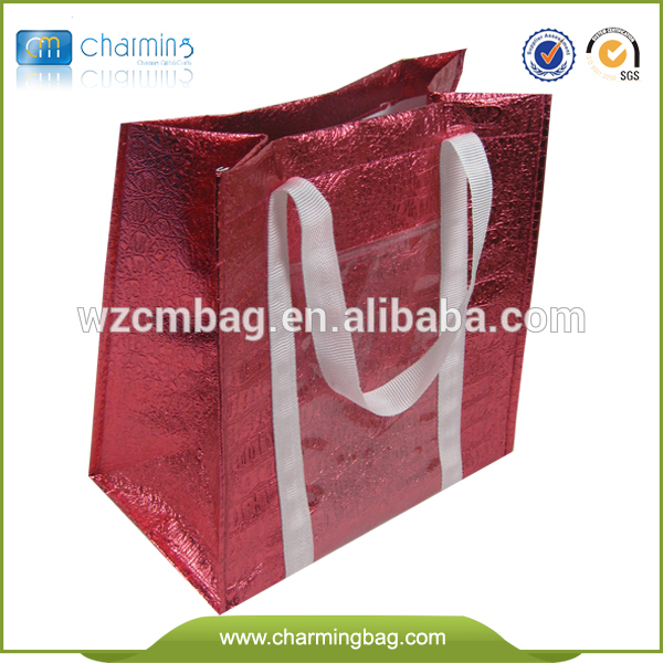 Leather Looking Croco embossed non woven shopping bag