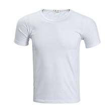 Promotional blank 95% cotton 5% elastane t shirt with high quality lady t-shirt
