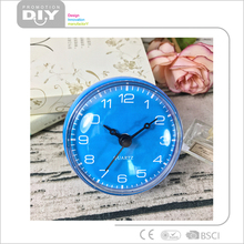 Small quantity order Kitchen shower clock Decor Mini Suction Clock Cute Shower Waterproof Wall Clock