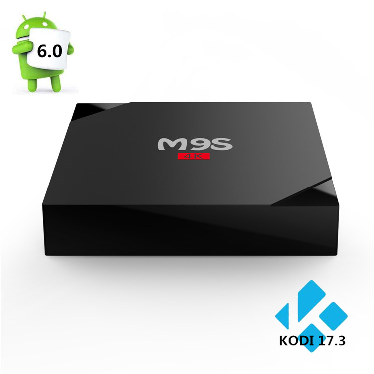 2017 hot sale product RK3229 quad-core CPU Android 6.0 OS M9S V5 internet tv box android