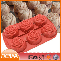 RENJIA silicone molds flower,mafen cup silicone cake mold,flowers silicone molds