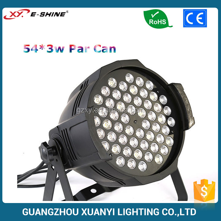 dj light ip20 54 * 3w rgbw led par light