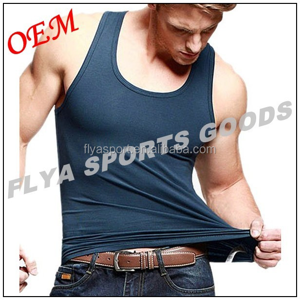 Suit for casual sports wear blank gym mens stringer singlet