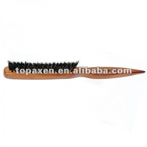 Professional wooden Teasing Brush 3row 50% boar & 50% nylon bristle