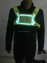 Hot sale reflective safety belt with LED light running man