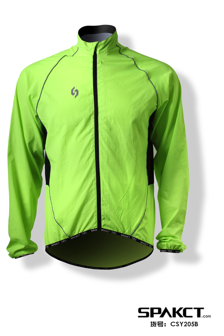 Men wind jackets sublimation fluorescent running cycling jackt hotsale wind-proof