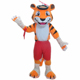 Cosplay soft plush tiger mascot with build-in cooling fan fit all adult tiger mascot