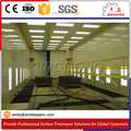 Compressed air manual operation sand blasting room/booth