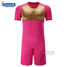 Sublimation mens football shirts in full set custom logo printing soccer sportswear low price alibaba soccer jerseys for sale