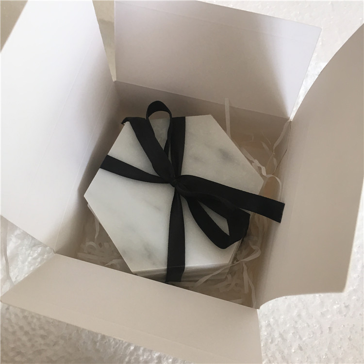 Christmas Amazon Hot Selling white marble stone Coasters