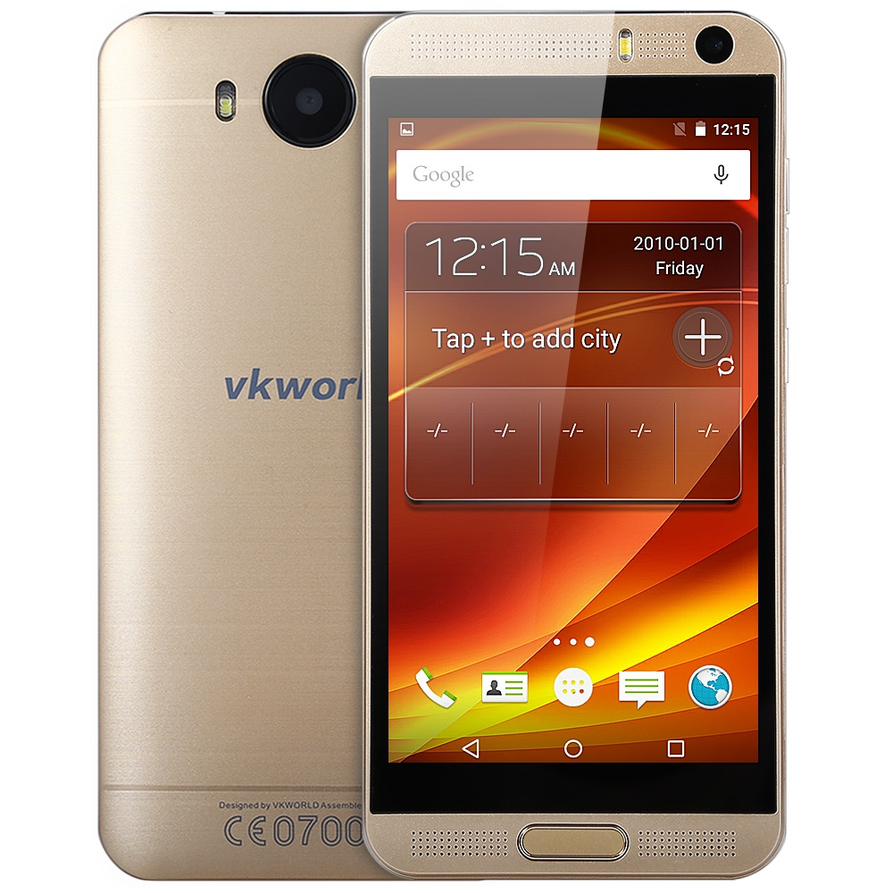 Original VKWORLD VK800X 5.0 inch Android 5.1 3G Smartphone MTK6580 Quad Core 8GB ROM 8MP Dual Cameras GPS WiFi Mobile Cell Phone