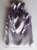 Satin drawstring shoes bag