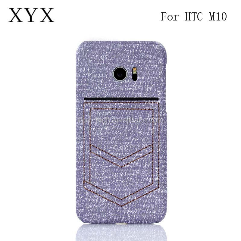Modern leather superior performance back cover for htc one <strong>m10</strong> mobile phone case