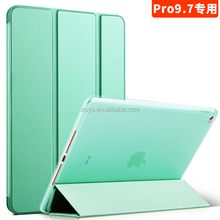 pure color pu leather case for ipad pro 9.7 with soft edge