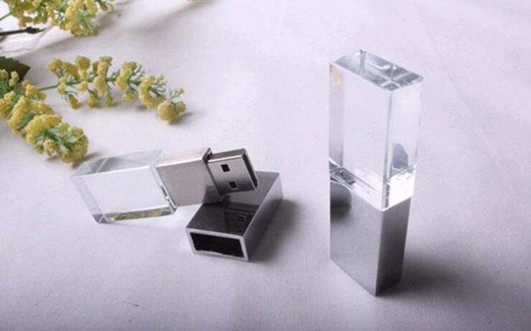 High speed customize crystal usb 3.0 flash drive 64gb usb pendrive free logo