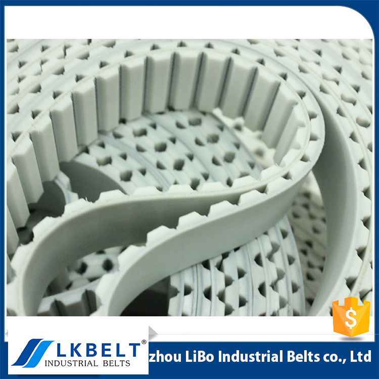 PU industrial timing belt decorative with white pattern