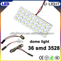 High quality 36 smd 3528 led panel light for car led reading/dome/door/interior light