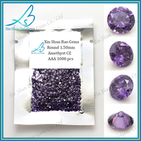 HOT selling amethyst round loose machine cut cz for jewelry