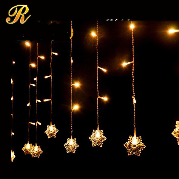 220V 2*0.6M 60 LEDs Snowflake LED Curtain Lights for Xmas Tree Garden Home Decoration Christmas Garland LED String Waterproof