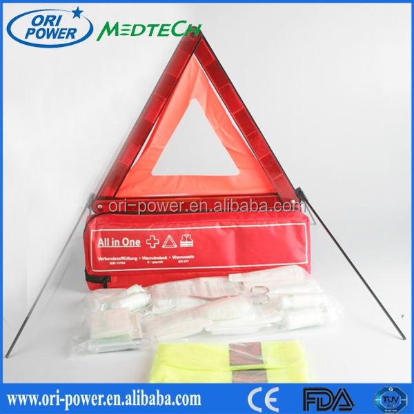New Product DIN13164 Germany CE FDA approved wholesale oem promotional auto emergency survival kit