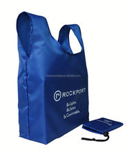 Eco-friendly 190T polyester foldable eco bag with custom logo for outing