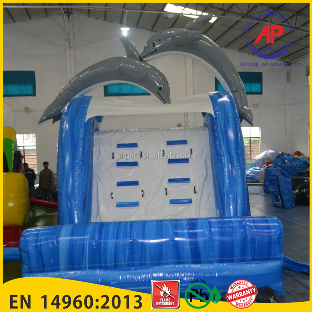 Airpark Popular Dolphin Inflatable Slides, Inflatable Water Slides