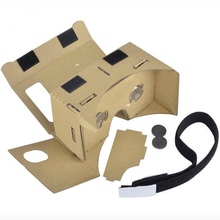 Top Quality DIY Google Cardboard VR 3D Glasses with Head Strap