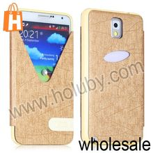 Unique V Line Call Display Leather Case for Samsung Galaxy Note 3 N9000 N9005