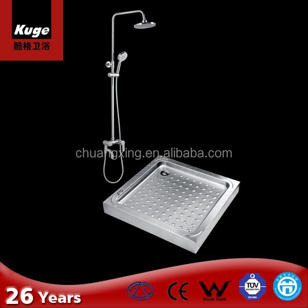 700mm standard size shower tray Stainless steel shower tray