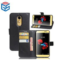 PU Leather Flip Wallet Case For ZTE Blade A910