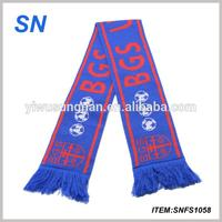 Acrylic Knitted Soccer Scarf