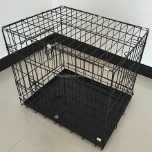 24 inch foldable iron wire dog cage,pet product
