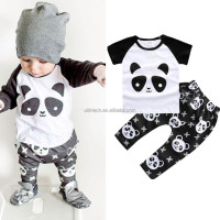 2016 Factory new design baby clothing wholesale in girl's clothing set spring outfits boutique kids clothes (AT04)