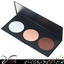 Cosmetics company,3 color face powder palette for wholesale on sale