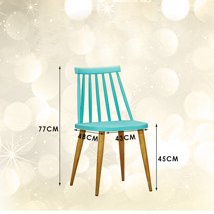 2017 Popular beech wood leg plastic chair weight