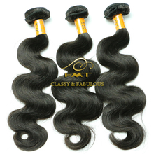 Grade 7A Remy Chinese Human Hair, 1b Natural Black Body Weft Hair Weave extension