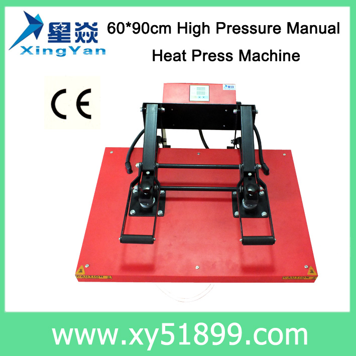 60*90CM High quality high pressure manual heat press <strong>machine</strong>