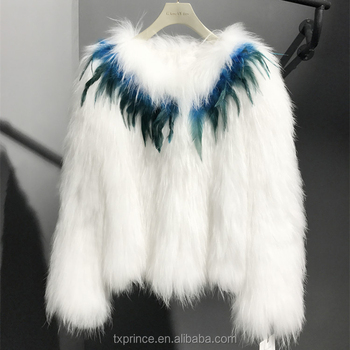 high quality new fashion knitted real racoon fur coat for lady