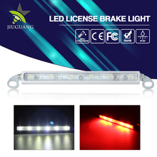 Waterproof Super Bright Red and White Light 15W Led License Brake Light