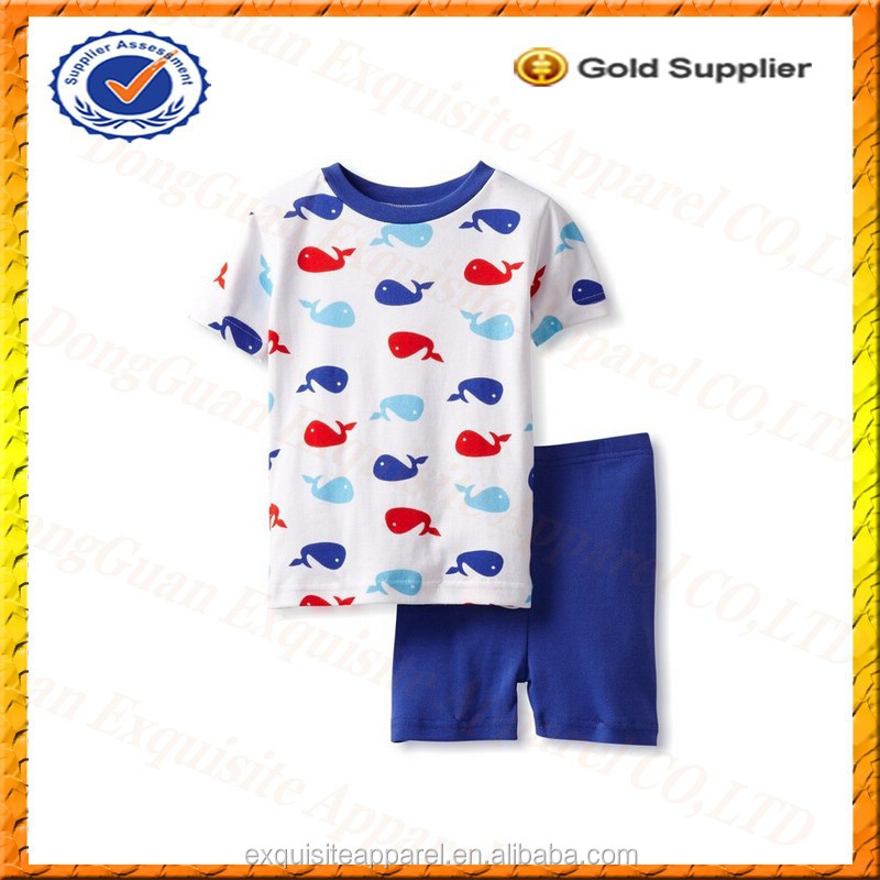 Custom 100% Cotton Pajama Kids Summer Clothing/Kids Clothes of Cute Girls Pajamas