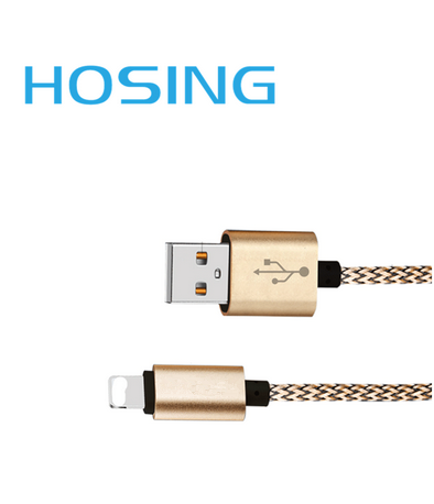 USB Cable Braided Micro USB/8 Pin Type B to A Male 1m Length Data Sync Cable