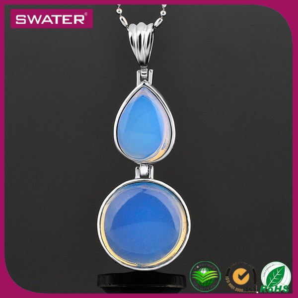 New Products 2016 Blue Gemstone Wholesale Glass Vial Pendants