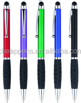 china supplier of promotional stylus pen with touch tip