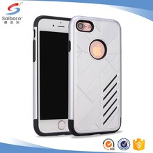 Mobile phone accessories factory in china TPU+PC for iphone 7 black case