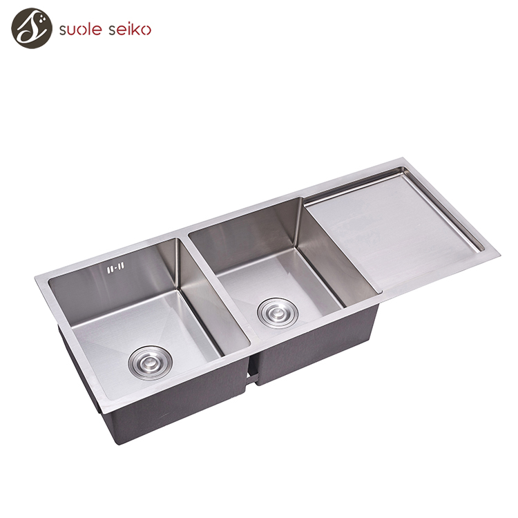 Popular Product Modern Kitchen Designs Stainless Steel Food Prep Table With Sink