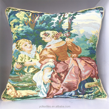 Classic Palace Style Latest Wholesale Jacquard Cushion Cover
