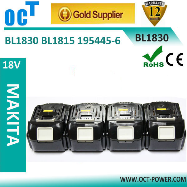 18V Battery Accu For Makita 18V Li-ion 3.0Ah BL1830 FIT FOR DC18RA DC18RA